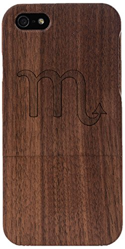 Woodero Scorpio Zodiac Real Wood Case for Apple iPhone 5/5S