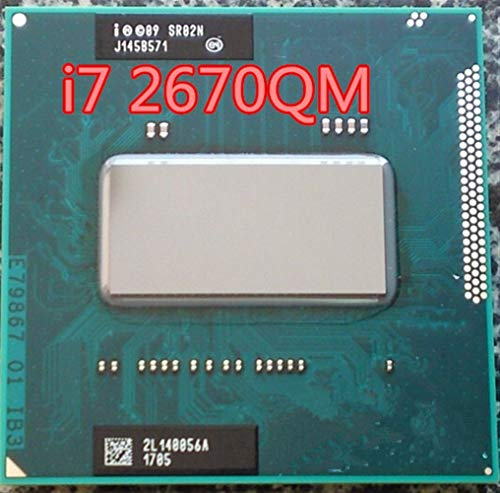 DINGZHHANGZH Original Intel CPU I7-2670QM I7 2670QM SR02N I7 2670QM SRO2N 2.2G-3.1G / 6M Für HM65 / HM67 Laptop-Prozessor I7-2670QM (Color : A)