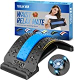 Back Stretcher, TEIBAKY Lower Back Stretcher for Pain Relief, Back Massager Lumbar Support Back Cracking Device for Back Pain Relief Posture Corrector