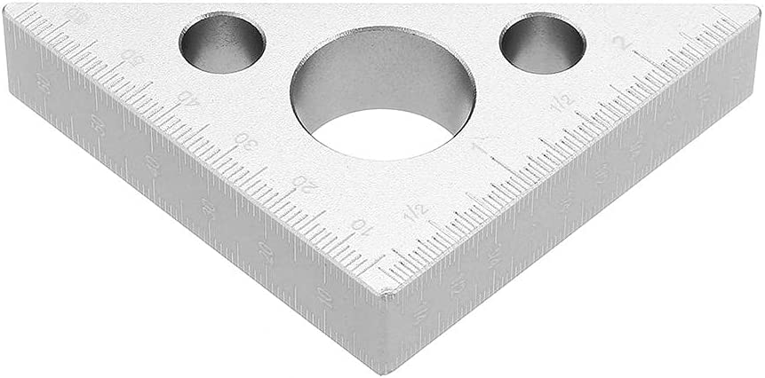 90 Degrees Fees Finally resale start free Aluminum Alloy Height T Woodworking Ruler Metric Inch