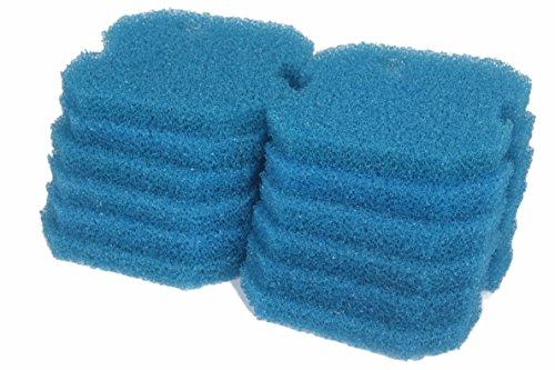 LTWHOME Remplacement Bleu Grossier Filtration Tapis Convient pour Eheim 2616261 Professionnel Pro 2 2226/2326/ 2026/2128 et Expérience 350 (Paquet de 12)