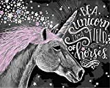 N\A Acrilico Pintura Kit For Mayores Avanzada Niños Joven Unicornio Estrellas Negro DIY...