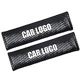 2 Piezas almohadillas protectoras para cinturón de seguridad, Almohadillas Protectores de Coche Hombro, para Niños y Adultos, Acabado Fibra de Carbono (BM-W)