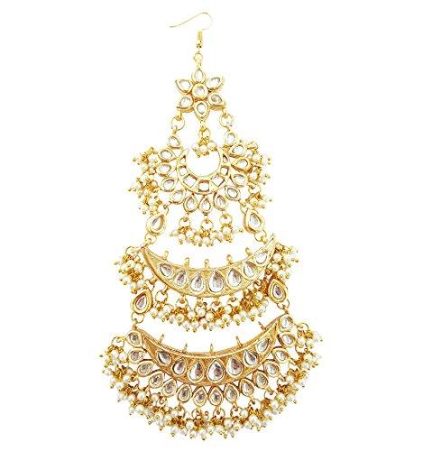 Mehrunnisa Traditional Kundan Pearls Jhoomar Passa For Women (JWL1411)