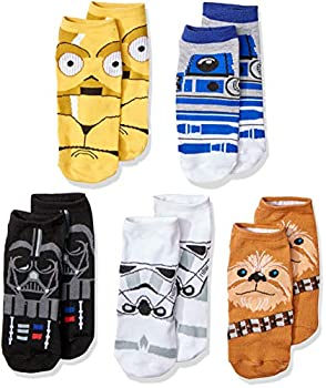 Star Wars Chewbacca Darth Vader R2-D2 Faces 5 Pack Ankle Socks