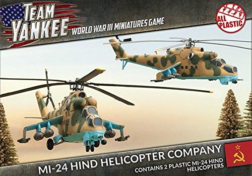 Soviet - 1:100 MI-24 Hind Helicopter Company Model Kit