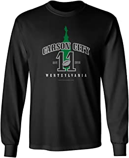 36 and Oh! Carson City, Wentzylvania Long Sleeve T-Shirt - Machine Washable