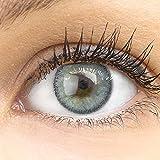 Sehr stark deckende und natürliche graue Kontaktlinsen SILIKON COMFORT NEUHEIT farbig grau +...