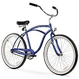 Firmstrong Urban Man Beach Cruiser Bike, Mens Bicycle 26-Inch, 1-Speed, Matte Blue