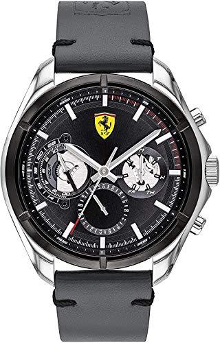 Scuderia Ferrari Reloj para de Cuarzo con Correa en Cuero 830753
