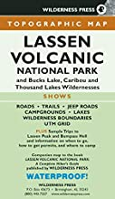MAP Lassen Volcanic National Park: and Bucks Lake, Caribou, and Thousand Lakes Wildernesses
