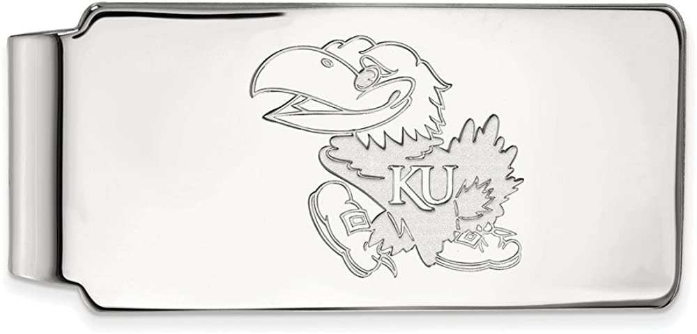 Solid Courier shipping free 14k White Gold Official Kansas of Rare Business University Slim