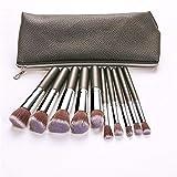 Pakopjxnx Fundación cosmética líquido mezclado rubor dama belleza herramientas de maquillaje 10 piezas set de brochas de maquillaje