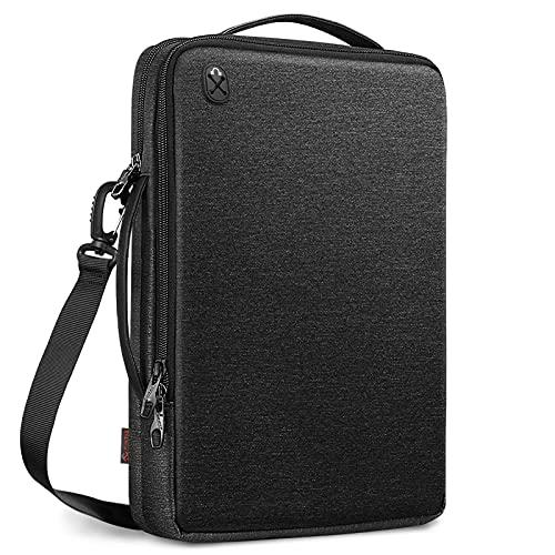 Finpac - Funda para portátil de 14 pulgadas Acer Chromebook, Lenovo IdeaPad 5, Yoga 7i, Yoga Slim 7, 14 pulgadas, bolsa de hombro para Huawei, HP, Asus, Dell, Chuwi, Jumper, LincPlus, color negro