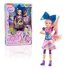 """The Singing JoJo Doll stands 10 inches tall. JoJo sings her hit song, """"#1U."""" Includes a blue microphone accessory. Includes hairbrush to help style and comb JoJo's hair. Comes with wear-and-share bow accessory. JoJo has poseable arms and legs to prom..."""
