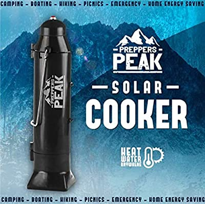 Preppers Peak Solar Water Heater for Camping Outdoor Travel with Solar Technology