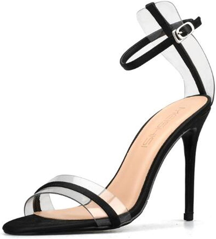 XIUWU Women's Sexy Transparent Evening Pumps Prom High Heel Sandals