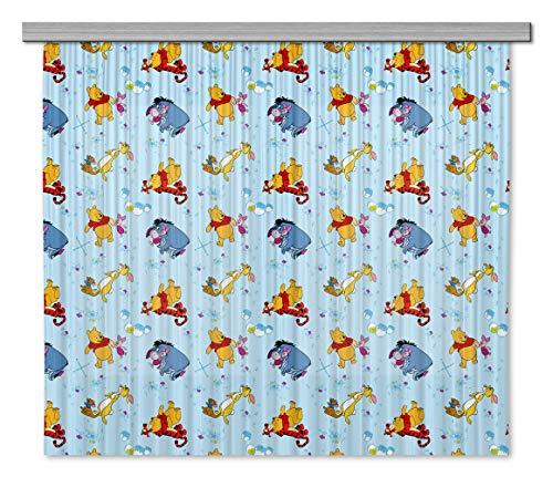 AG Design Disney Winnie Puuh Kinderzimmer Gardine/Vorhang, Stoff, Mehrfarbig, 0. 1 x 180 x 160 cm, 2