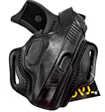 HOLSTERMART USA by TAGUA Right Hand Classic BH1 Black Leather Thumb Break OWB Belt Holster for Ruger LC9 LC9S LC380 EC9S