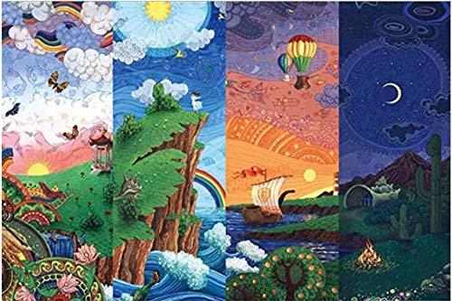 Abstract 1000 stukjes Zonsopgang Zonsondergang Verandering Cartoon Landschap Kunst Olieverfschilderij Kinderen Hersenkrakers Onderwijs Leren Speelgoed Volwassenen Spellen Houten legpuzzels