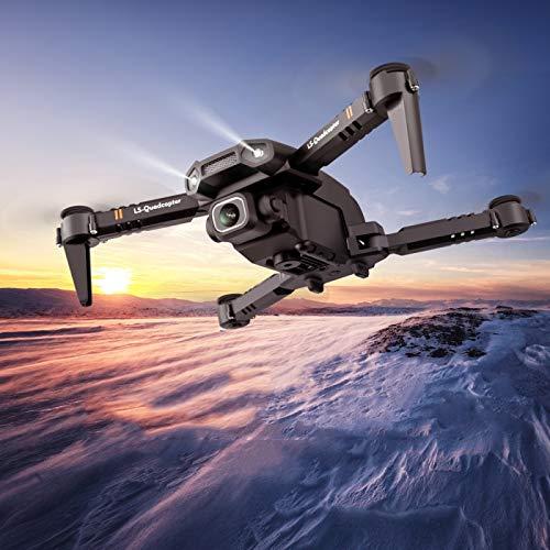 YOFEE KZT AYDD LS-XT6 4K Cámara Sola Foldable RC Quadcopter Mini Drone Control Remoto Aviones, Caja de Color