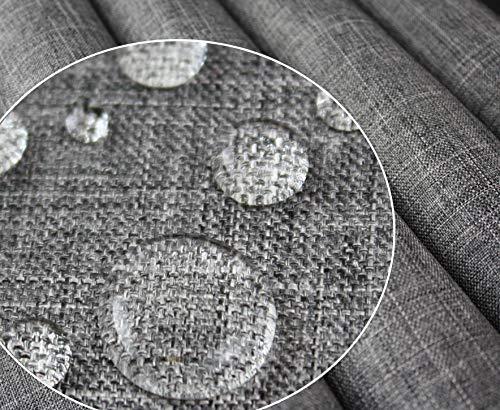 Tukan-tex Polyester PU Wasserabweis Wasserdichter Stoff Gewebe | Oxford 300D | Leinen Look (Grau 1023A)