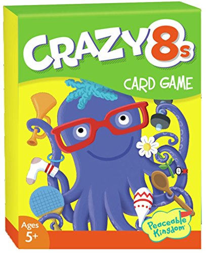 Peaceable Kingdom Crazy 8s Card Game for Kids - Funny Animal Illustrations