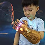 Infinity Gauntlet LED Light Up PVC Glove Cosplay Prop Costume for Halloween Party (Kids Version)