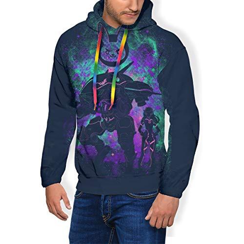 D Va Skin Ov-erwatch Herren Fashion Sweatshirt Hoodie Pullover Taschen Plus Samt Gr. XX-Large, Schwarz