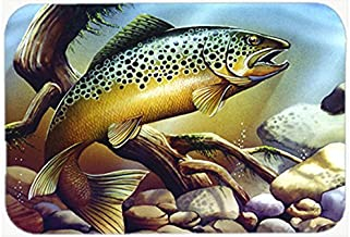 Caroline's Treasures PTW2038CMT Brook Trout Kitchen or Bath Mat, 20 by 30, Multicolor
