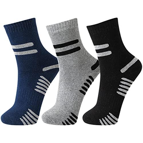 TEXEMP Herren Thermo Socken (6-12 Paar). Warme Winter Sport, Wander und Arbeitssocken (Muster 1, 312, 12 Paar, 39-42)