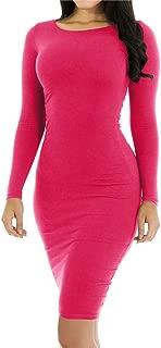 Best hot pink long sleeve dress Reviews