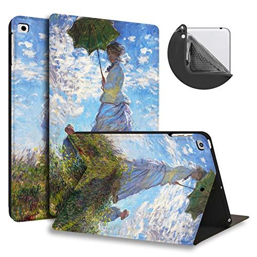HUASIRU Pintura Caso Funda para iPad Air/Air 2 (9.7 Pulgadas) y iPad 2017/2018 - La Cubierta de Soporte Ajustable con Auto-Reposo/Activación, Mujer
