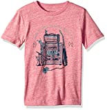 Lucky Brand Little Boys' Short Sleeve Graphic Tee Shirt, Mineral red Heather, 7