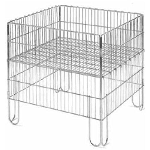 Cesta expositora plegable de 600 x 400 x 800 mm, de metal con estante, mueble contenedor plegable para decoración promocional tiendas, supermercados y ferias