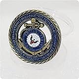 WLTY Valores fundamentales del Emblema de la Marina de los EE. UU. Moneda Hueca de Cobre Antiguo Monedas de Compromiso de la Medalla de Valor