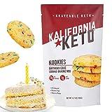 Kalifornia Keto Birthday Cake Cookie Mix – Low Carb, Keto-friendly, and Sugar Free, 6.7 oz pack (12 Keto Cookies) – Soy Free, Gluten free, Dairy Free, and Grain Free Keto Baking Mix