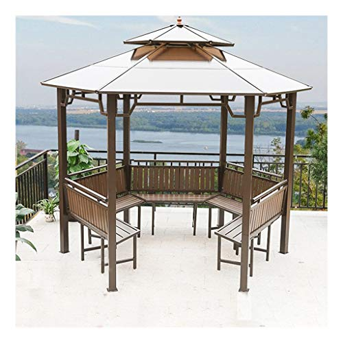 Canopies, Gazebos & Pergolas 12x12 FT Garden Gazebo, Patio Pavilion, Double Roof Ventilation Patio Gazebo Patio Tents and Canopy Gazebo, Ideal for BBQ, Party, Beach and More Outdoor Gazebo ,Villa Gaze