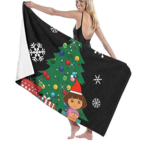 ENZOOIHUI Dora The Explorer Around The Christmas Tree Toalla de baño Toalla de Playa 80X130 Cm