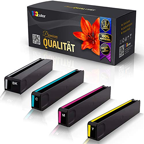 123Color 4x Alternative Tintenpatronen für HP OfficeJet Pro X476 DN X476 DW X551 DW X576 DW HP970 HP971 HP 970XL HP 971XL HP 970 XLK HP 971 XLC HP 971 XLM HP 971 XLY Schwarz Cyan Magenta Yellow