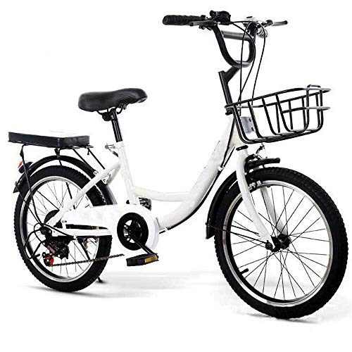 Wangkangyi 20 Zoll Kinderfahrrad für Jungen und Mädchen | Fahrrad für Kinder Cruiser | (empfohlene Körpergröße: 115-130 cm) City Bike, Kinderrad (Weiß)