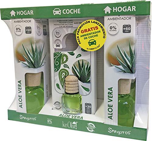 AMBIFYLTER® Pack Premium - 2 Ambientadores Hogar + 1 Ambientador de Coche Gratis Aloe Vera