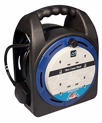 MasterPlug hst1613/4BL Kabeltrommel 16m 4G 13A blau [1] (steht zertifiziert)
