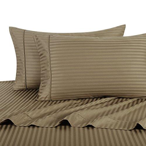 Royal Hotel - Juego de sábanas a rayas de 4 piezas, 100% al