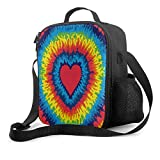 Delerain - Bolsa de almuerzo con asa y correa para el hombro, bolsa de almuerzo aislada, bolsa de aperitivos para niños, niñas, niños, preescolar, oficina, picnic