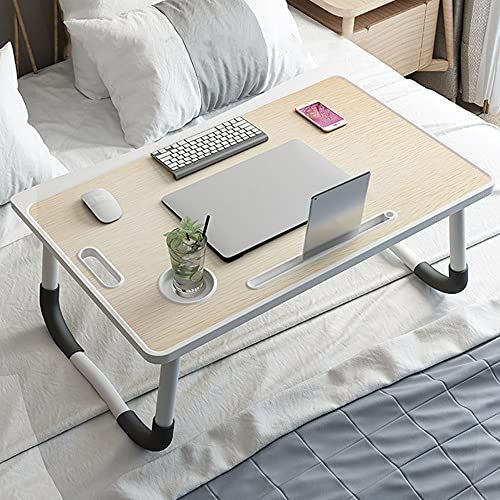 Foldable Legs Lap Desk, Adjustable Laptop Bed Table, Portable Breakfast Tray with Storage Drawer&Cup Holder, Fits Up to 17 Inch Notebook, Tablet Stand for Couch Sofa Floor Home Office Reading Writing