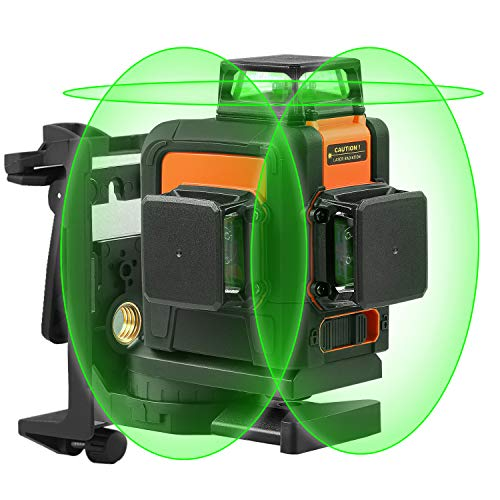 Niveau Laser 3 x 360, Tacklife Laser Croix Vert 40M SC-L08, Ligne Laser Auto-nivellement, Mode Pulsé Extérieur et Intérieur, Verrouillable, Support Pivotant Magnétique, IP54 Etanche Sac Inclus