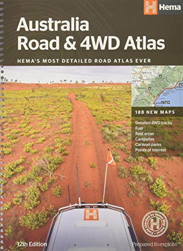 Australia Road & 4WD Atlas (spiral bound): HEMAs most detailed road atlas ever with 188 new maps