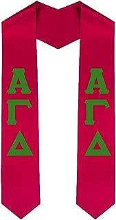 Alpha Gamma Delta New Greek Lettered Graduation Sash Stole