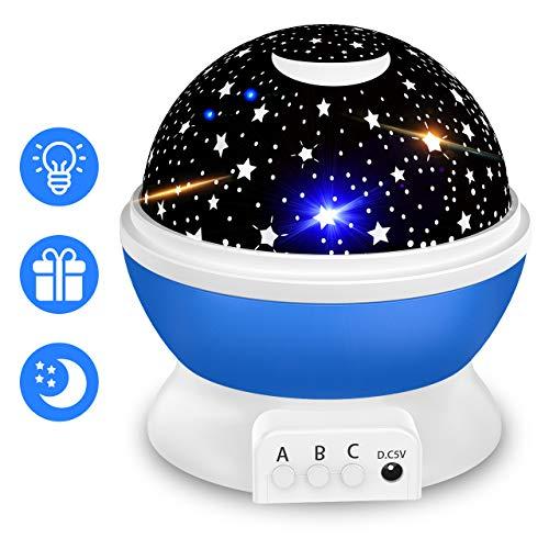 Spielzeug Junge 4 5 6 7 Jahre, ATOPDREAM Sternenhimmel Projektor Geschenke für Jungen ab 1-10 Nachtlicht Baby Spielzeug 1-10 Jahren Junge Baby Geschenke Jungen 1-10 Jahre